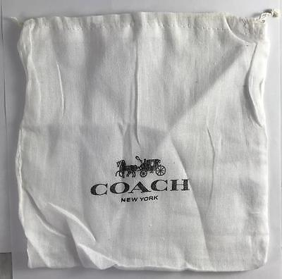 "Lot of 2 COACH Drawstring Dust Bag Covers Storage 8"" x 8"" Cloth"