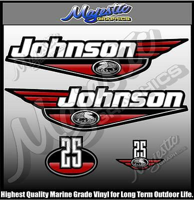 JOHNSON - 25 hp - DECAL SET - OUTBOARD  DECALS
