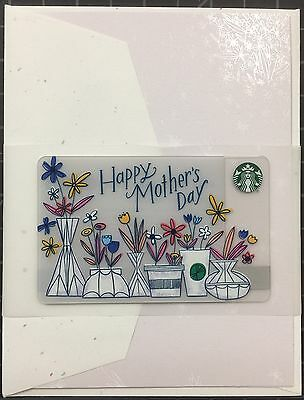 *NEW* 2017 Starbucks Mother's Day Greeting/Gift Card