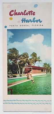 1950's Brochure Hotel Charlotte Harbor Florida Destroyed by Fire 1959