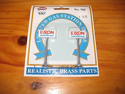 HO Lighted Exxon Gas Station Sign #705