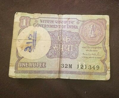one rupees note