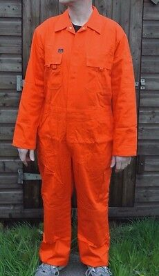 Orange Klm Kleding 100% Cotton Heavy Duty Boilersuit High Quality Work Overall