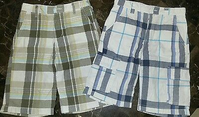 Boys Old Navy Plaid Bermuda Shorts Lot Size 14
