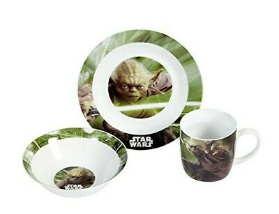 Star Wars 12492 3-teiliges Porzellanset Yoda Neu & OVP