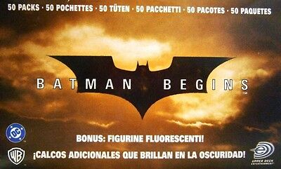 Batman Begins Sticker Booster Display (50 Booster) Neu & OVP