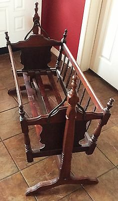 Antique Victorian Eastlake Baby Cradle in Walnut Ask About the Mattress