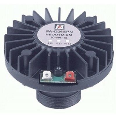 P.Audio PA-D26SPN 1 Inch Screw-On Neodymium Compression Driver