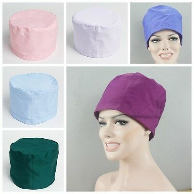 Men Women Scrub Cap Hat Medical Surgical Surgery Hat Pure Color New Hot Sale