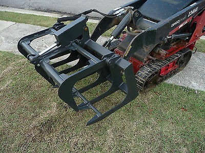 "Toro Dingo Mini Skid Steer Attachment 42"" Root Rake Grapple Bucket - Ship $149"