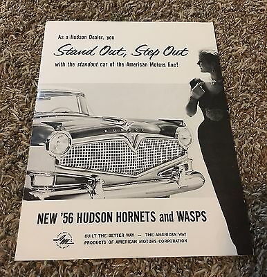 1956 Hudson Hornets Wasps Dealer Brochure