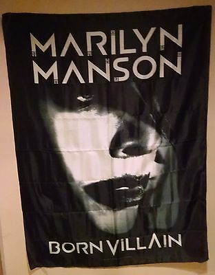 MARILYN MANSON BORN VILLAIN 29X43 CD COVER Cloth Fabric Poster Flag Tapestry-New