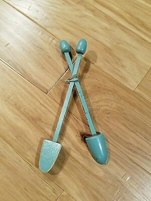 Vintage Shoe Tree Keepers Stretcher Shaper - Wood tips with metal center band