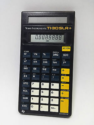 Texas Instruments TI-30 SLR PLUS Datamath Scientific Calculator vintage 1980s