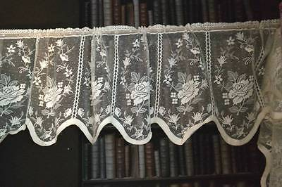 Serena vintage Ivory cotton lace window valance shabby chic cottage bris-bise16""