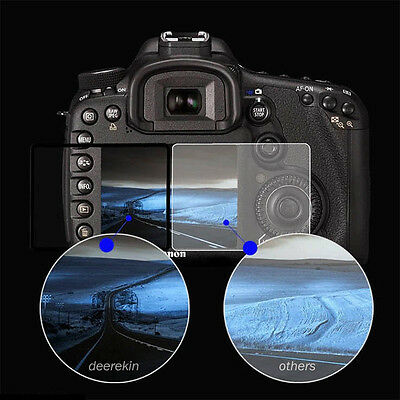 3X LCD Screen Protective Tempered Glass For Canon Nikon Sony Olympus Camera