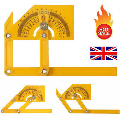 New Angle Engineer Protractor Finder Measure Arm Ruler Gauge Tool+Brass Fittings