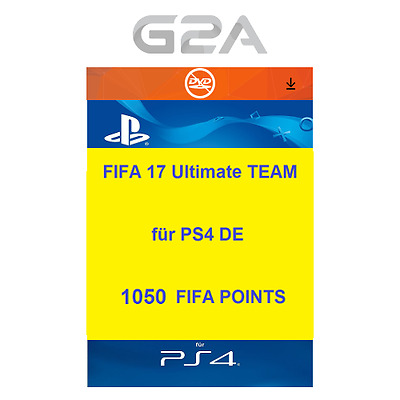 FIFA 17 Ultimate Team - 1050 FUT Points [PS4] Playstation Network PSN Code DE