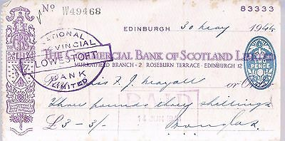 Commercial Bank Of Scotland 1944 - Lowestoft - Aa Battery Ra
