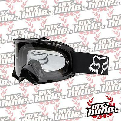 FOX Motocross MX Brille AIRSPC Polished Black / Clear Motocross Enduro MX Cross