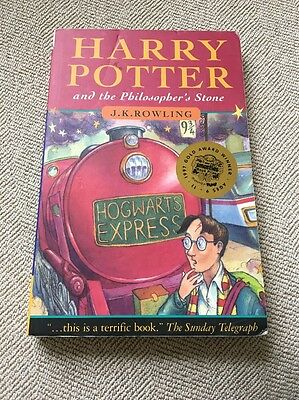 Harry Potter And The Philosopher's Stone Paperback Book Early Edition Bloomsbury