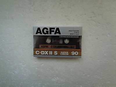 Vintage Audio Cassette AGFA C-DXII S 90 * Rare From Germany 1987 *