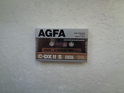 Vintage Audio Cassette AGFA C-DXII S 60 * Rare From Germany 1987 *