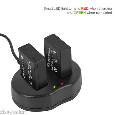 Dual USB Battery Charger for Canon LP-E17 EOS M3 750D 760D Rebel T6i T6s 8.4V
