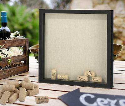 Plain Wedding Party Guest Book Alterative Signing Cork Drop Box Frame