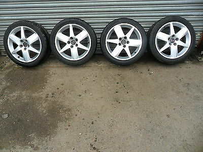 Saab 9-3 Set Of 4 X Alloy Wheels And Tyres 225/45/r17