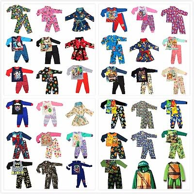 New Size 1-14 Kids Pyjamas Winter Boys Girls Sleepwear Pjs