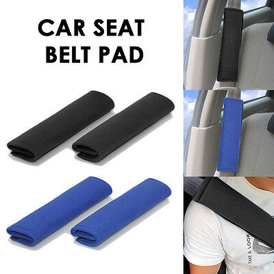 2x Car Seat Belt Pads High Comfort Universal Fit UK
