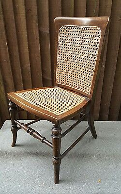 Beautiful Vintage Nursing Chair Caned Seat and Back