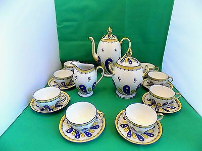 Limoges U.C Tea Set Hand Painted