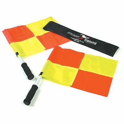 Precision Training Linesman Referee Chequered Flag Set Football Rugby Lines Man