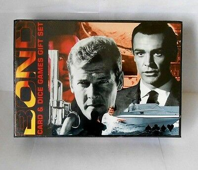 James Bond 007 card & dice games gift set - 2004 collectable - new unopened