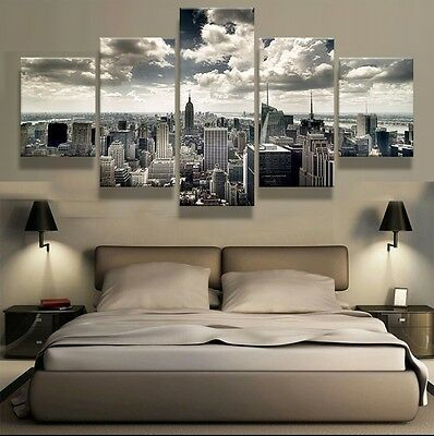 Framed Home Decor Canvas Print Painting Wall Art Modern New York City Cityscape