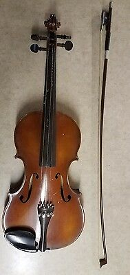 August Steininger Wood Violin Made In Germany #6346 Muller Bow