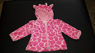 GYMBOREE BABY GIRL 18-24 months HOODIE Pink Giraffe Terry Cloth Beach Pool Cover