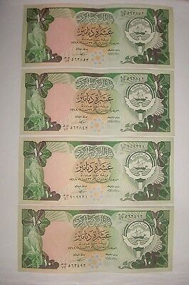 1968 (1980-91)  P-15 Kuwait 10 Dinars Lot Of 8 Banknotes
