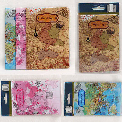 World Map Passport Holder Traveling Passport Cover Case Card & ID Holders Bag