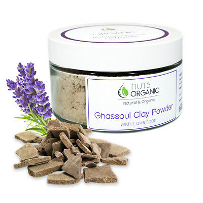 NATURAL MOROCCAN GHASSOUL (RHASSOUL) CLAY POWDER WITH LAVENDER  BODY & HAIR 200g