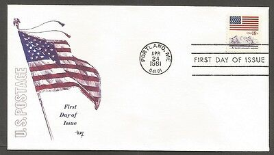 Us Fdc 1981 Flag 18C Stamp #1893 Marg Cachet First Day Of Issue Cover