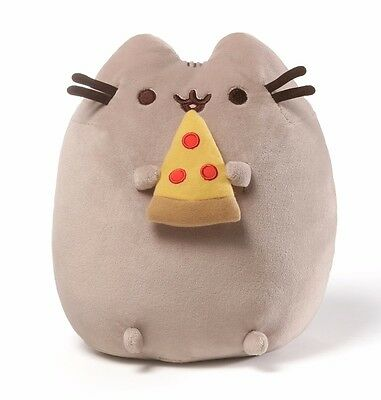 "Gund 9.5"" PLUSH PUSHEEN SNACKABLE with PEPPERONI PIZZA~NEW~"
