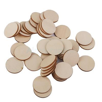 Wooden Craft Circles Round Disc Unfinished Wood Cutouts Ornament Project Arts