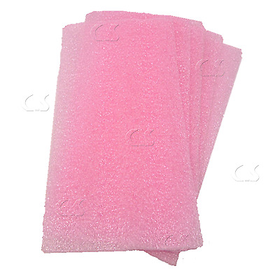 "Foam Sheet 14 x 6.5 x 1/8"" (Qty 5) Pink Anti-Static Packing Shipping  _998-049x5"