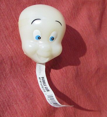 """CASPER The Friendly Ghost Sealed Gum Container 1995 New Full Glows-In-Dark 2.5"""""""
