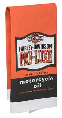 Harley-Davidson Pre-Luxe Bar Towel, 22 x 32 inches, Orange & Black HDL-18571