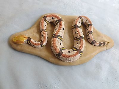 Beautiful Concrete Lifelike Baby Canebreak Rattlesnake Snake Very Real Detail