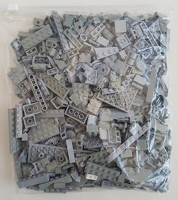 LEGO Parts 500g Assorted Pieces In Light Grey